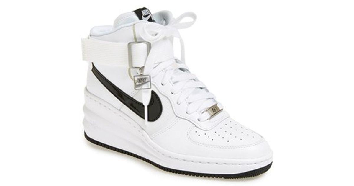new product 6dead 6fb40 Lyst - Nike  lunar Force Sky Hi  Wedge Sneaker in White