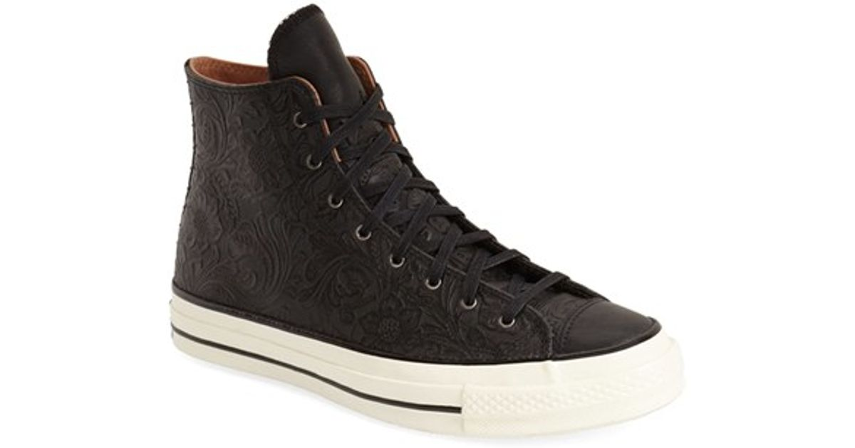 fab8b5d85028f Converse Chuck Taylor All Star  70  Floral Embossed High Top Sneaker in  Black for Men - Lyst