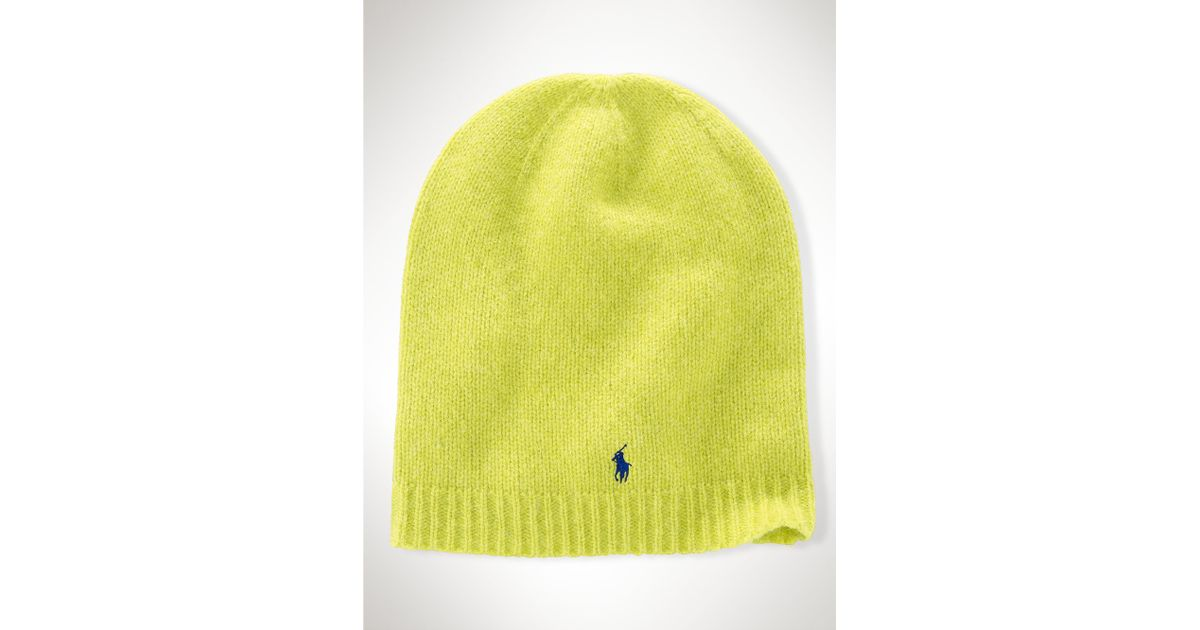 Lyst - Ralph Lauren Shetland Wool Hat in Yellow b704ff8d7de