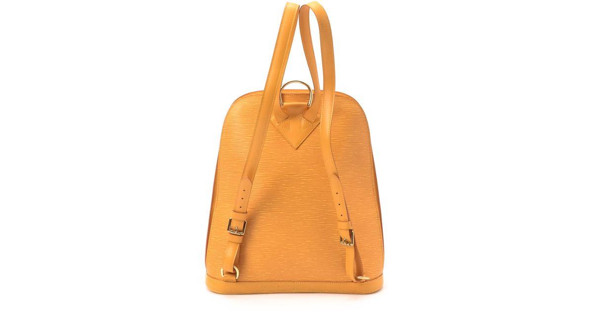 ed4f9e1d5978 Lyst louis vuitton tan epi gobelins backpack in yellow jpeg 1200x630 Yellow  louis vuitton backpack
