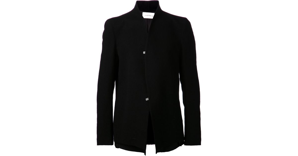 Lyst - Song for the mute Raised Neck Jacket in Black for Men