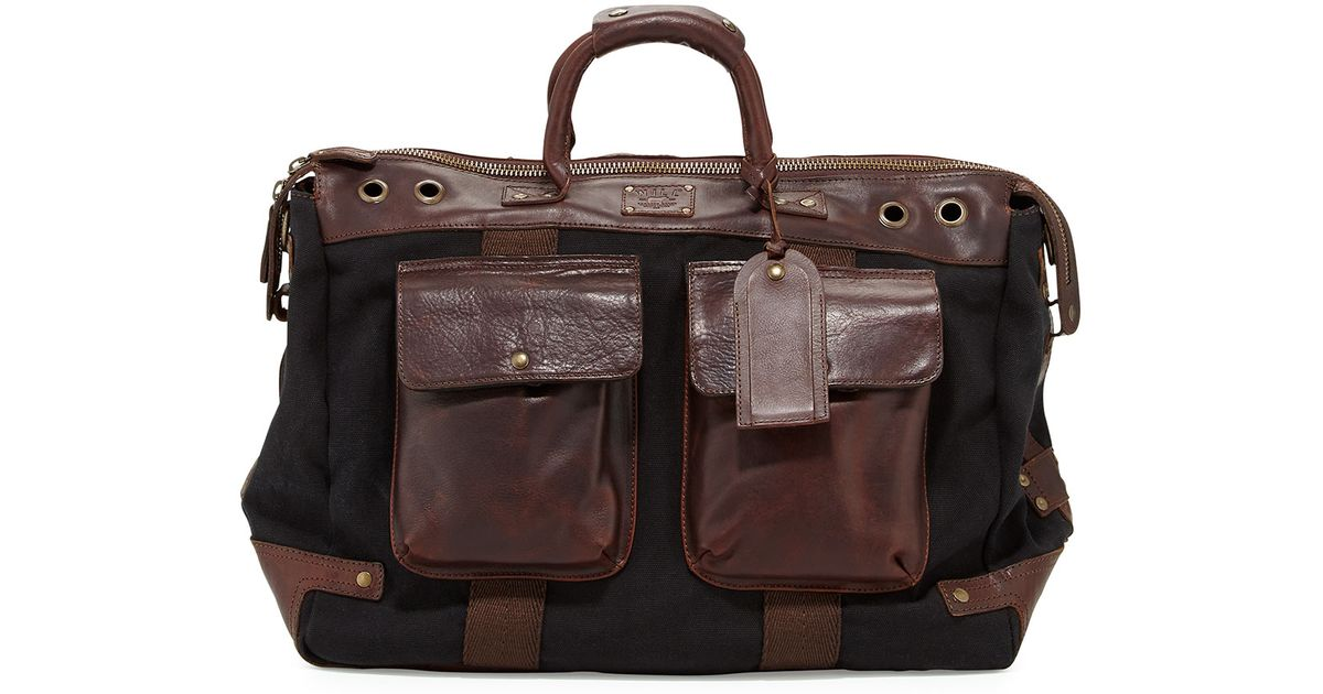 01274c7fac0d Lyst - Will Leather Goods Traveler Canvas leather Duffel Bag in Brown for  Men