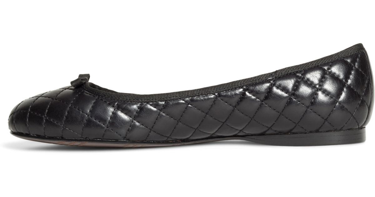 Brooks Brothers Quilted Leather Flats In Black Lyst