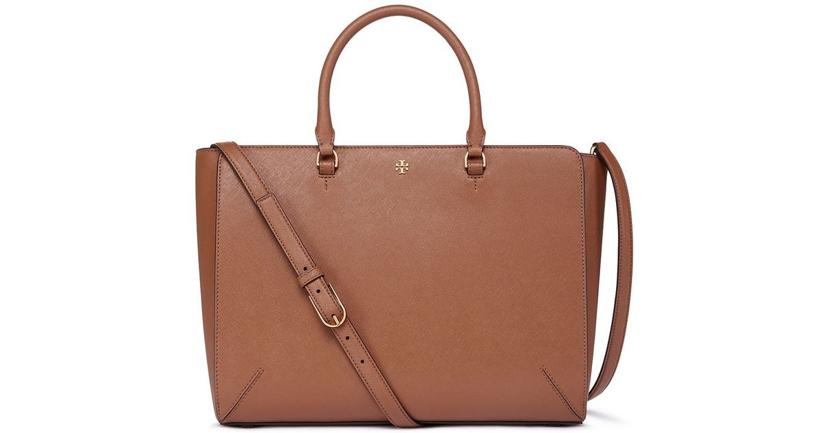 ad45cad7ac3 Lyst - Tory Burch Robinson Large Zip Tote in Brown