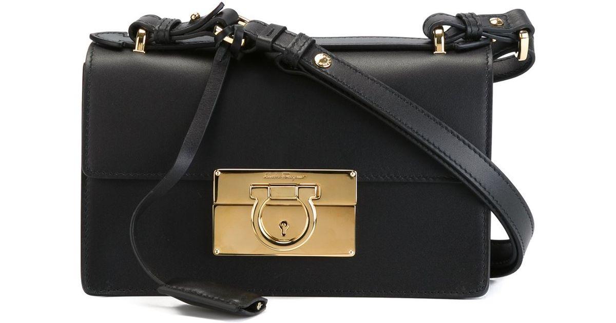 b4c8af1bf334 Lyst - Ferragamo  aileen  Shoulder Bag in Black