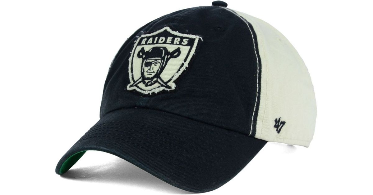 2f6582b9a Lyst - 47 Brand Oakland Raiders Nfl Derby Clean Up Cap in Black for Men