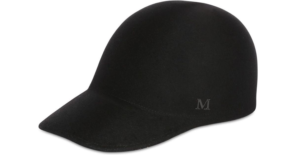 Lyst - Maison Michel Beaver Fur Felt Baseball Hat in Black for Men 96229ae4fbb