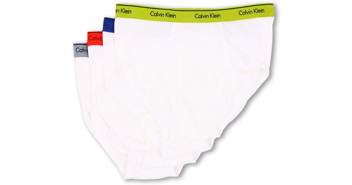 f7b1bb0a145467 Lyst - Calvin Klein Cotton Classic Brief 4-Pack U4000 in White for Men