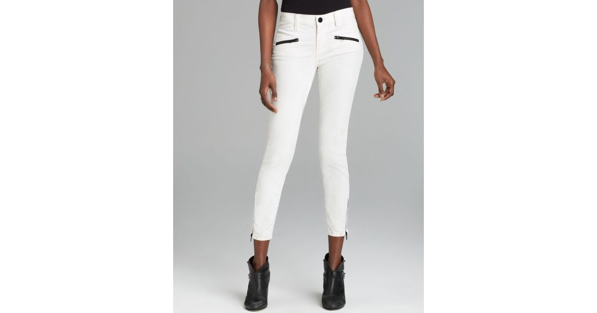 Current/elliott Jeans The Soho Zip Stiletto in Sugar Coated in ...