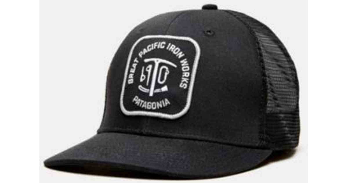 Lyst - Patagonia Great Pacific Iron Works Trucker Hat in Black for Men 1eb2bd0e823