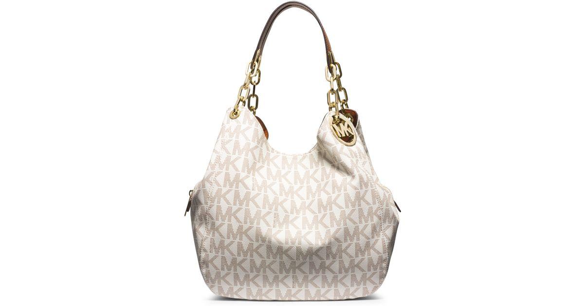 81e7806ae3b0 Michael Kors Fulton Large Logo Shoulder Bag in White - Lyst