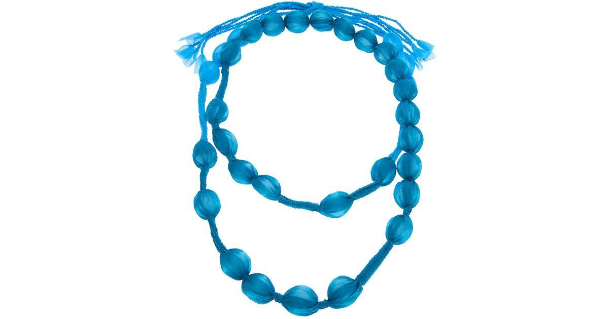 OLYMPIAH Marrocos beaded necklace - Blue s8jxpXQ9DJ