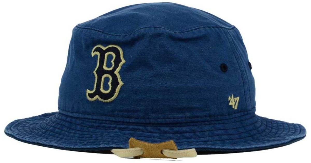 c53e970bd32 Lyst - 47 Brand Boston Red Sox Fever Dog Bucket Hat in Blue