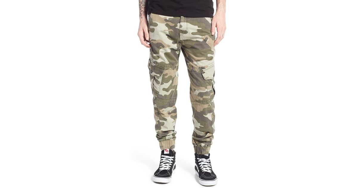 25cac8de9d7e Lyst - True Religion Camo Cargo Jogger Pants in Green for Men