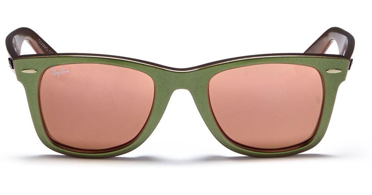 Ray-Ban  original Wayfarer Cosmo Venus  Iridescent Acetate Sunglasses in  Green - Lyst f51872f9b5ef