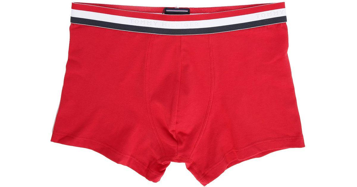 tommy hilfiger red tri colour boxer shorts in red for men. Black Bedroom Furniture Sets. Home Design Ideas