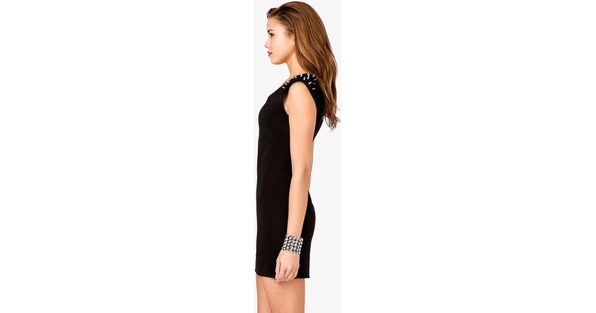 afa032049 Lyst - Forever 21 Plus Size Surplice Skater Dress in Black