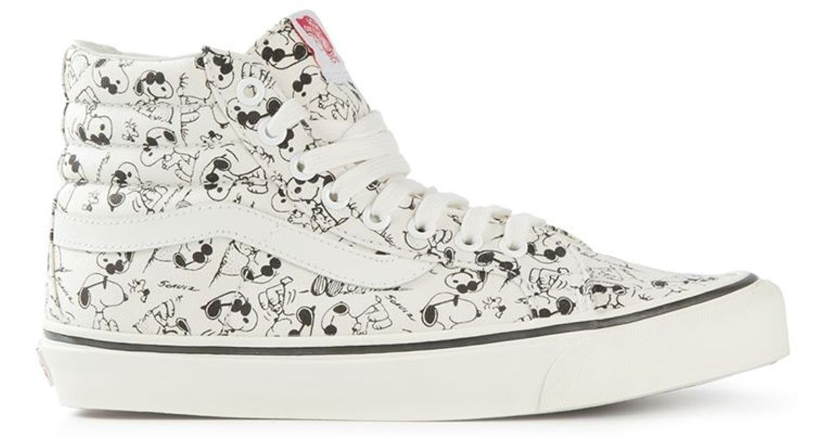 97bc0c2a14 Lyst - Vans  Snoopy  Hi-Top Sneakers in White for Men