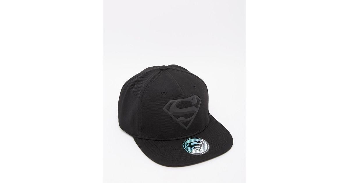 f4c0ef27c1d97 ASOS Snapback With Superman Logo in Black for Men - Lyst