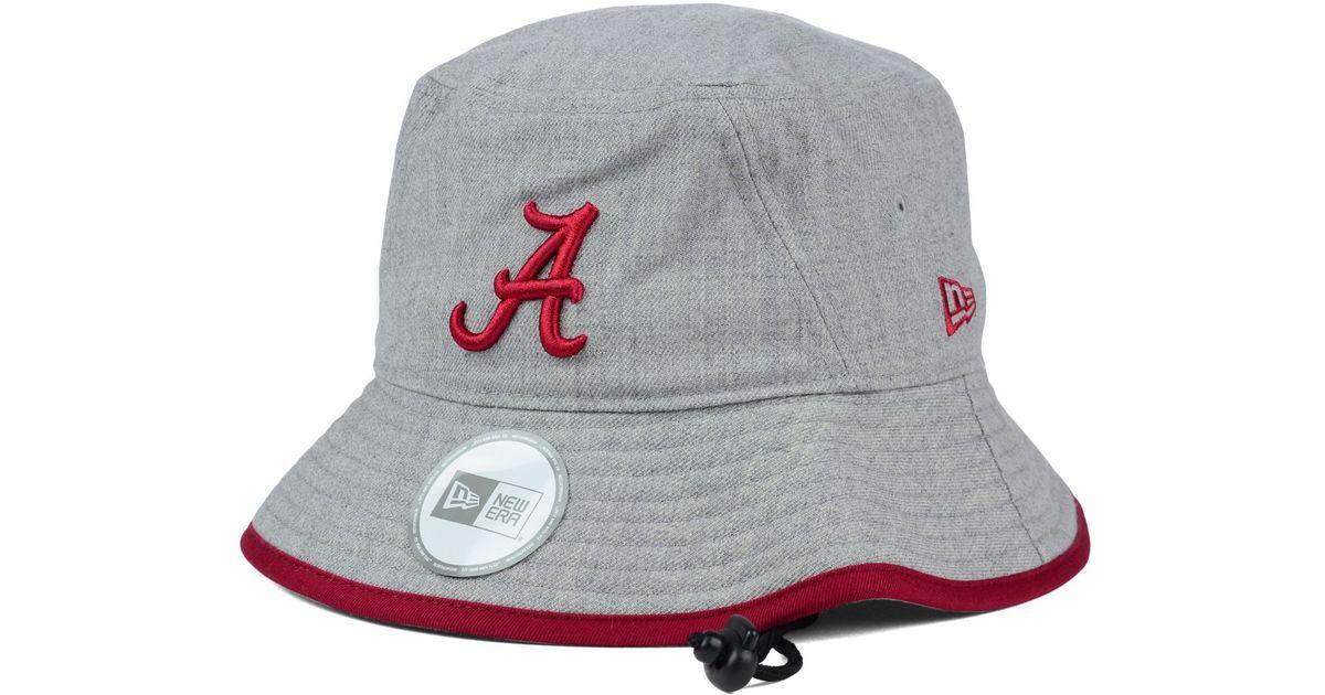 5ac6b4938f7 ... good lyst ktz alabama crimson tide tip bucket hat in gray a8eed fb8af