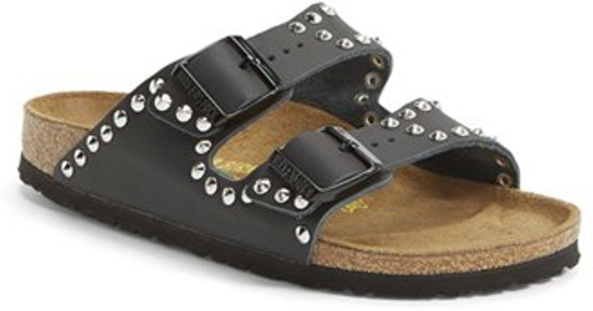 835ab856709b Lyst - Birkenstock  Arizona  Studded Leather Sandal in Black