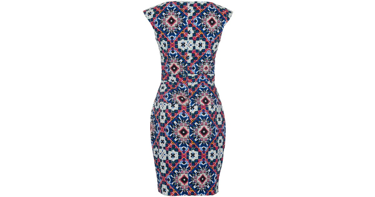 8fe5e25a4a9 French Connection Electric Mosaic Dress in Blue - Lyst
