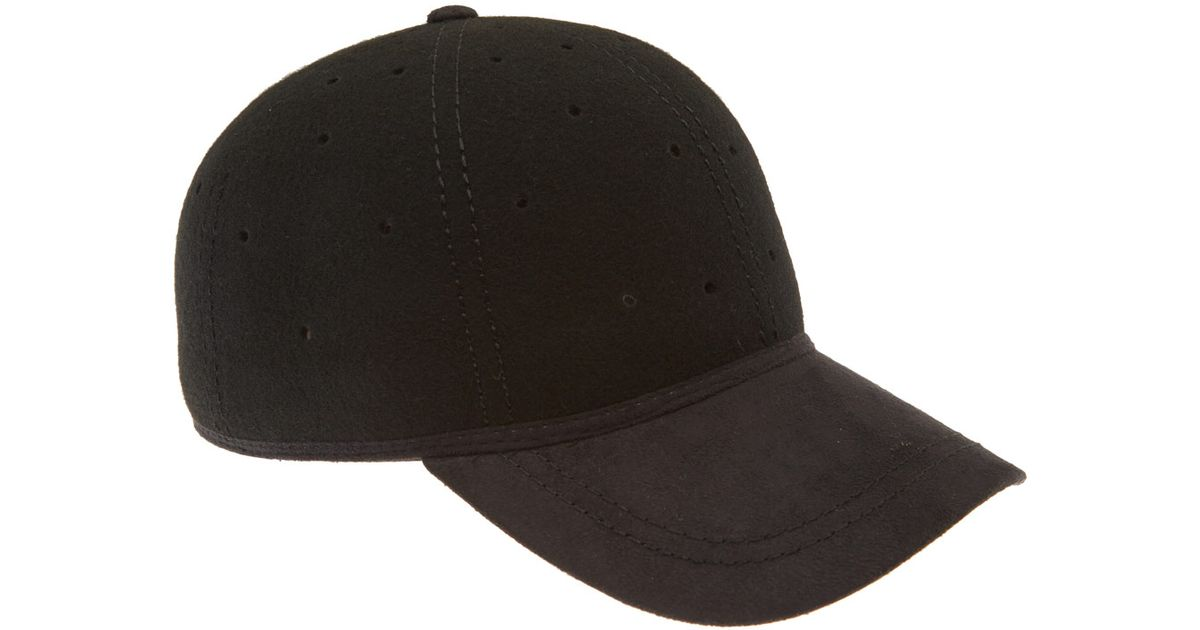 b03f0760 Christys' Black Perforated Wool Baseball Cap in Black - Lyst