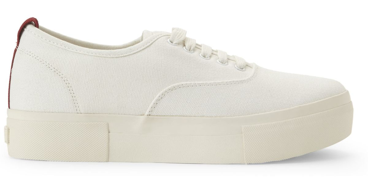 b2c00f7a738 Lyst - Steve Madden Off White Babe Platform Sneakers in White
