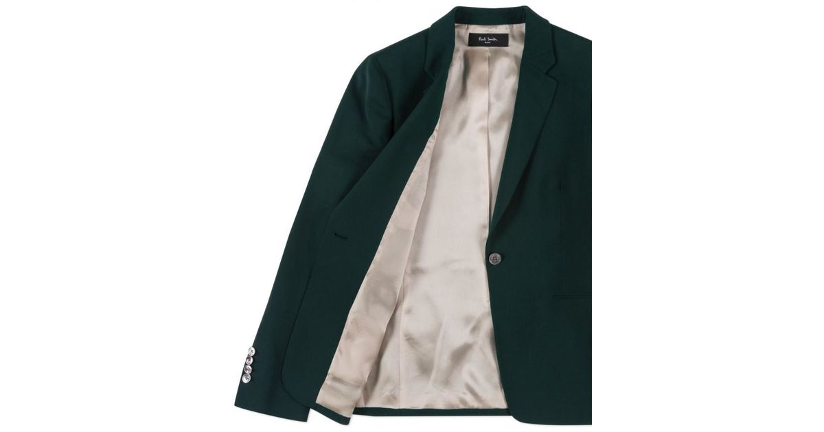 211729cd976 Paul Smith Button-Up Wool Blazer in Green - Lyst