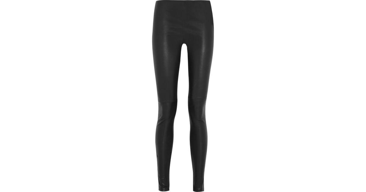 b1e8e3c473707f Balenciaga Stretch-Leather Leggings in Black - Lyst