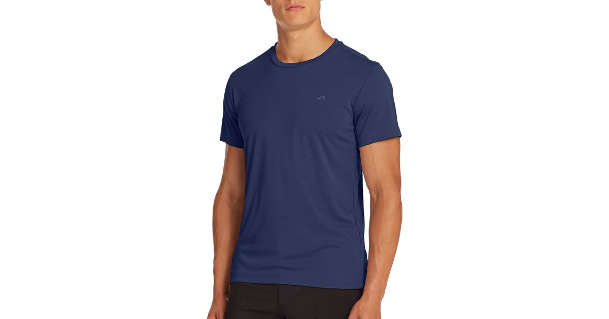 J.lindeberg Sporty High-tech Wicking Tee in Blue for Men ...
