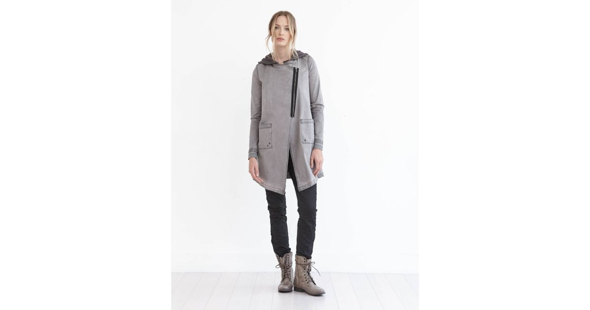 Marrakech Tish Hooded Utility Jacket In Gray Lyst