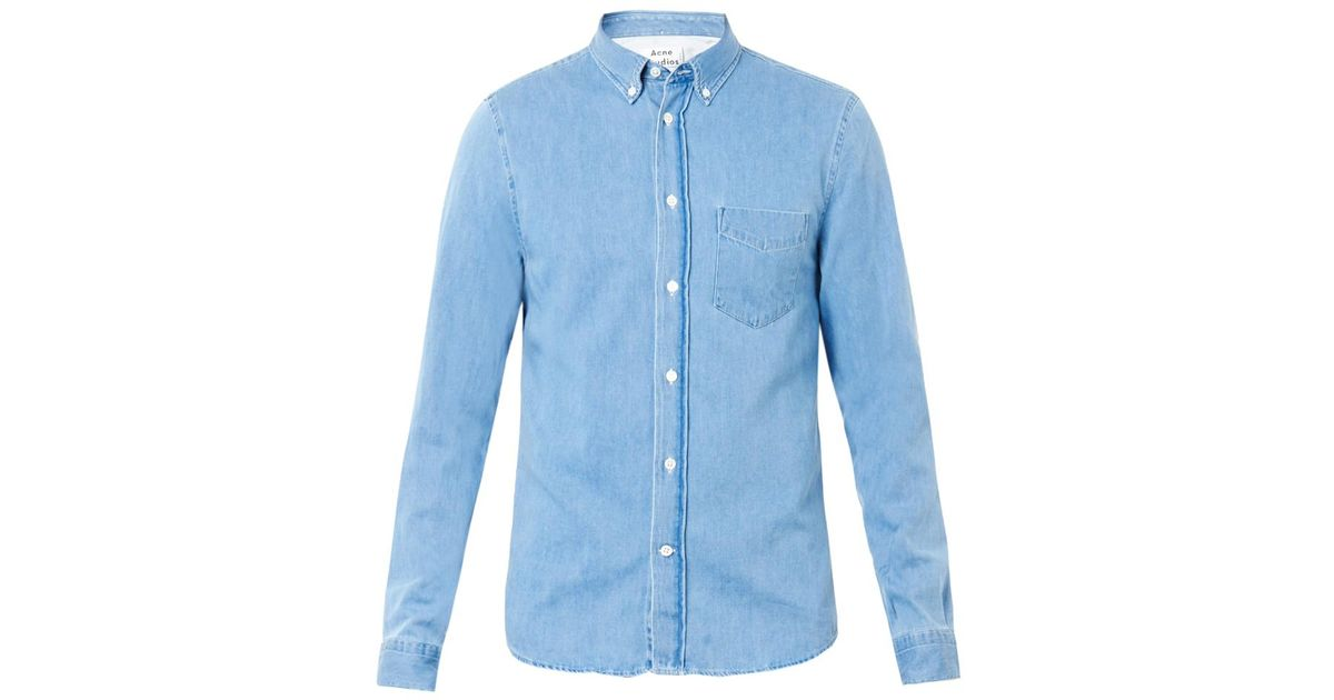 ae98da0235d Lyst - Acne Studios Isherwood Denim Shirt in Blue for Men