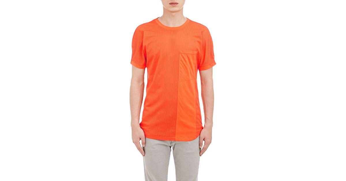 helmut lang combo t shirt in orange for men lyst. Black Bedroom Furniture Sets. Home Design Ideas