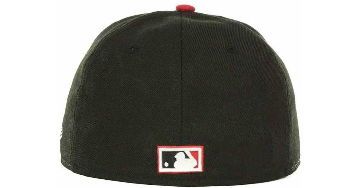 Lyst - Ktz Atlanta Braves Custom Logo Fitted 59Fifty Cap in Black for Men b85b3c632c23