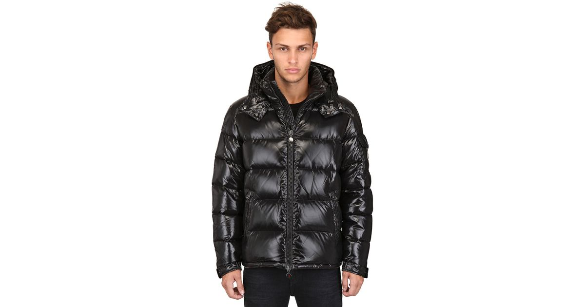 moncler black down jacket men's