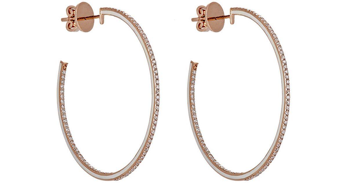 Raphaele Canot Womens Skinny Deco Hoop Earrings 0721GGfVet
