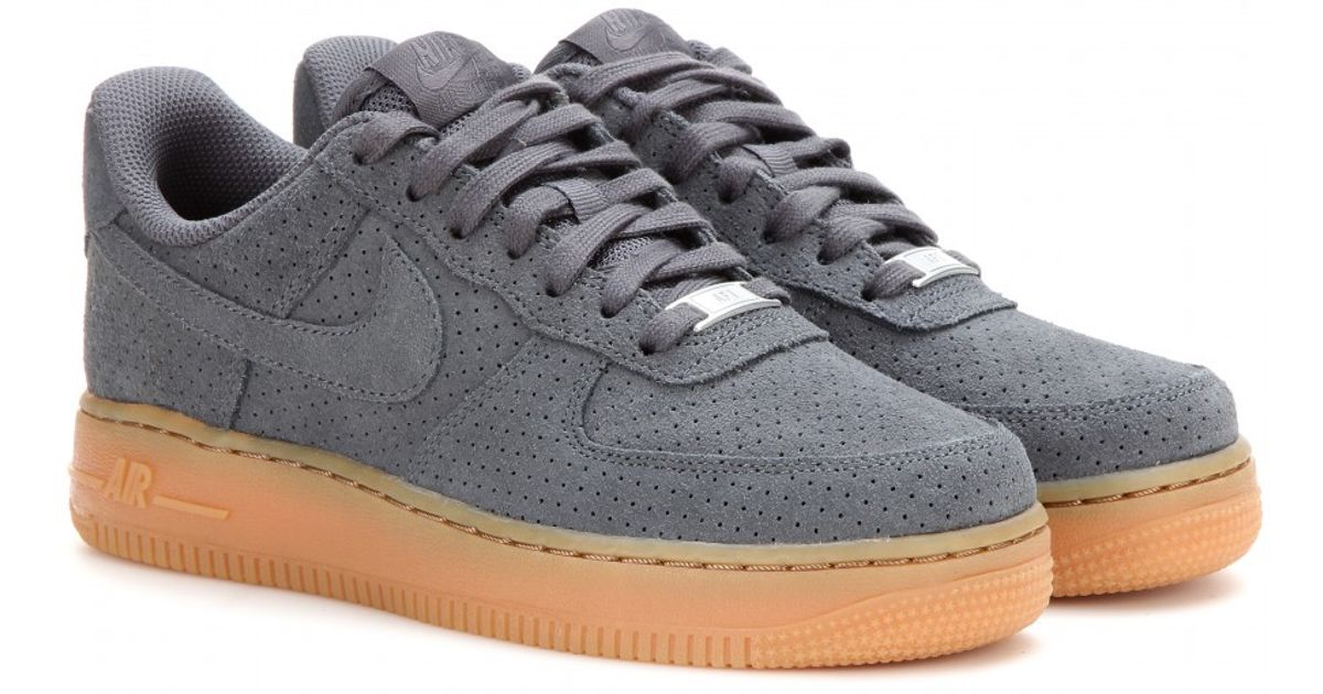 best service 6f929 411b9 ... cheap lyst nike air force 1 suede sneakers in gray 4ab9a 93e54