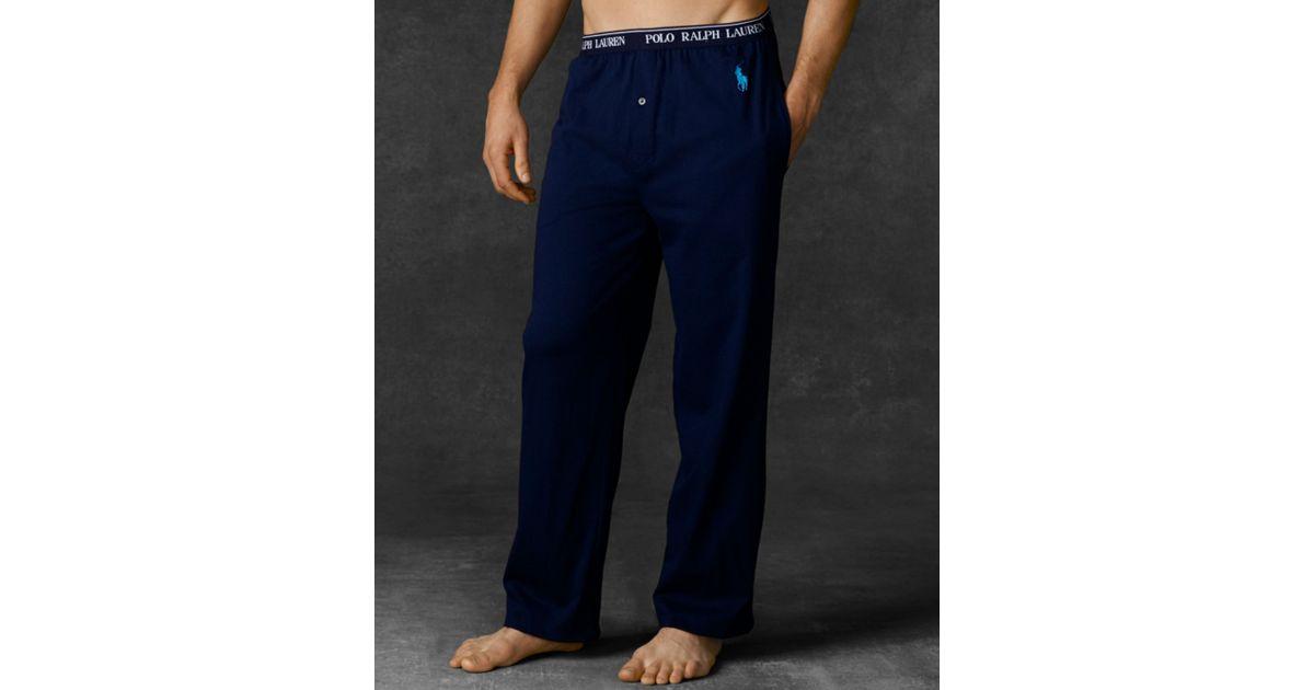 Lyst Ralph Lauren Polo Mens Pajama Pants In Blue For Men