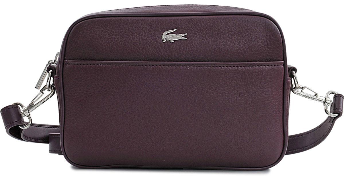 0ea749a80b Lacoste Renée Cross-body Bag in Purple - Lyst