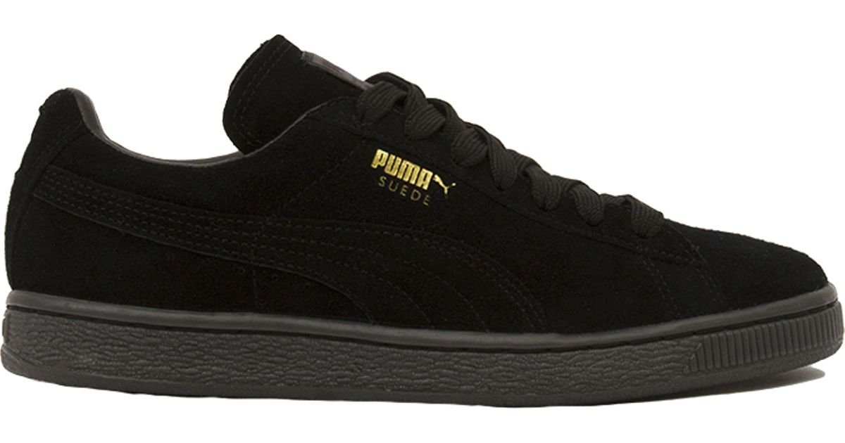 Lyst - PUMA Women s Suede Classic + Mono Iced Sneakers in Black ffddc8c75