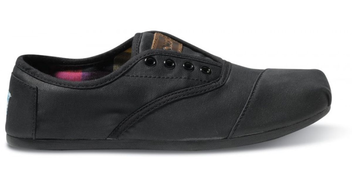 136c486cb99 Lyst - TOMS Black Waxed Twill Mens Cordones in Black for Men