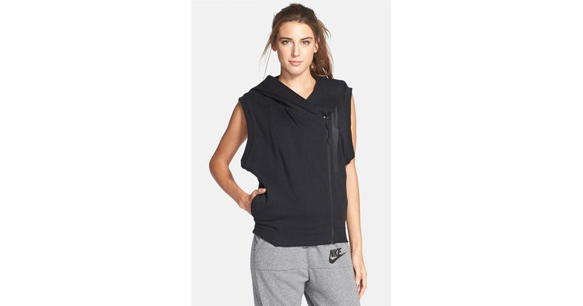 b4fd386d8d6e Lyst - Nike Hooded Tech Fleece Vest in Black