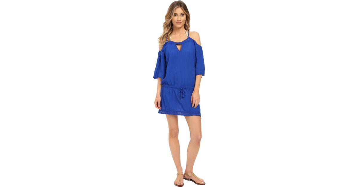 Becca Tivoli Tunic Cover-up in Blue (Electric Blue) | Lyst