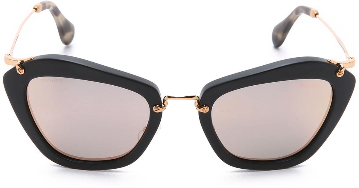 ojos de Miu Eyewear de gato sol Gafas con P1tRqz