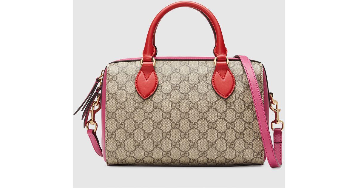 9b5b4f69e155 Gucci Gg Supreme Top Handle Bag - Lyst