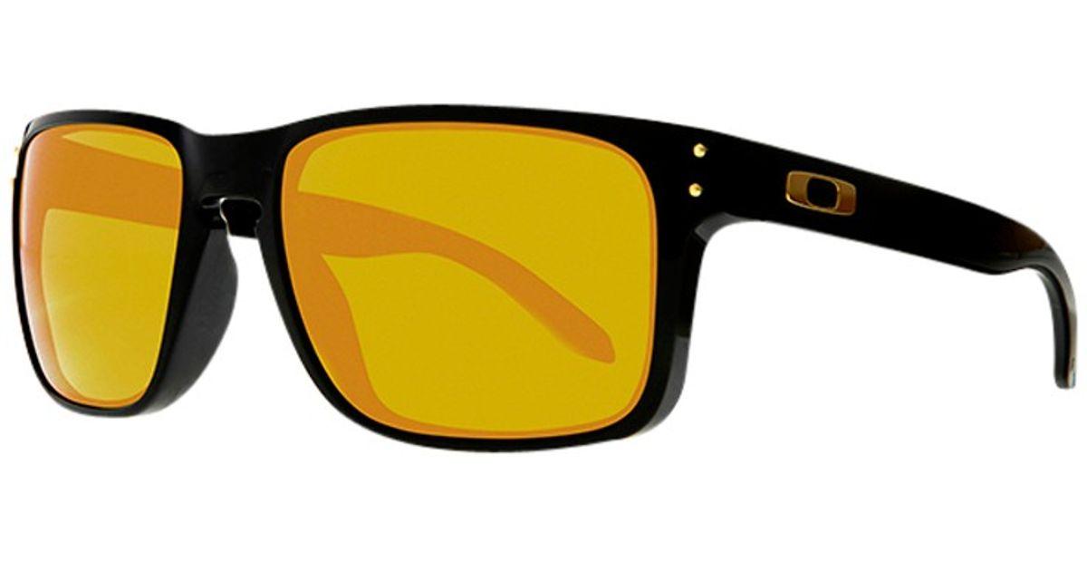 edb6bfc274 Oakley Oo9102 Holbrook Square Sunglasses in Yellow - Lyst