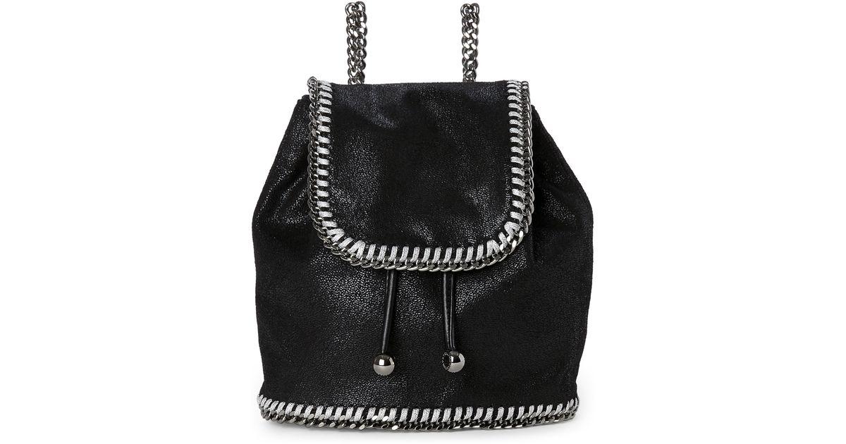 7892709a4d Lyst - Stella McCartney Black Shaggy Deer Falabella Mini Backpack in Black