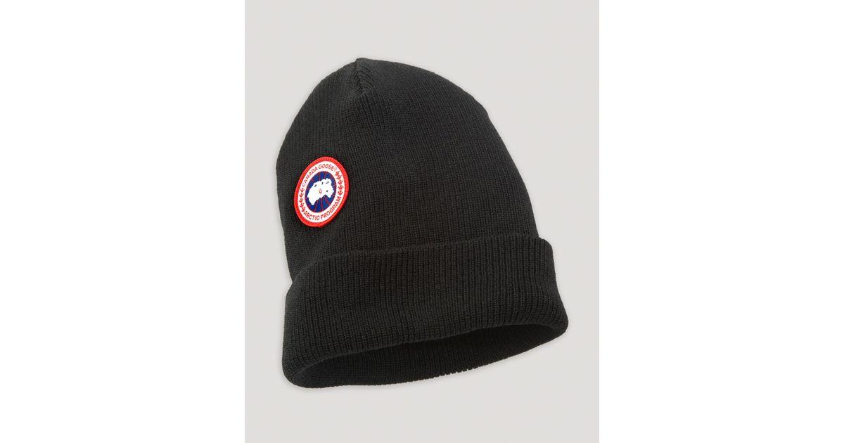 22fb4202884 Lyst - Canada Goose Merino Wool Cap in Black for Men