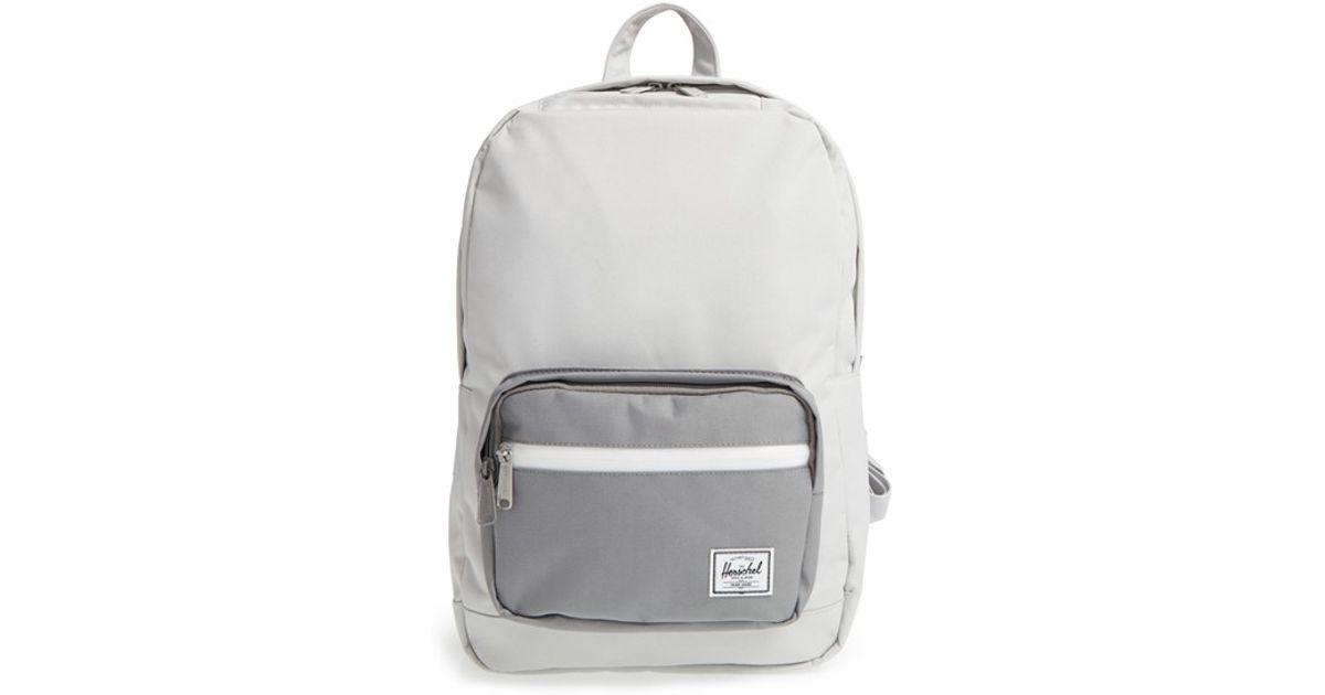 7fa068cd87bd Lyst - Herschel Supply Co.  pop Quiz - Mid Volume  Backpack in Gray